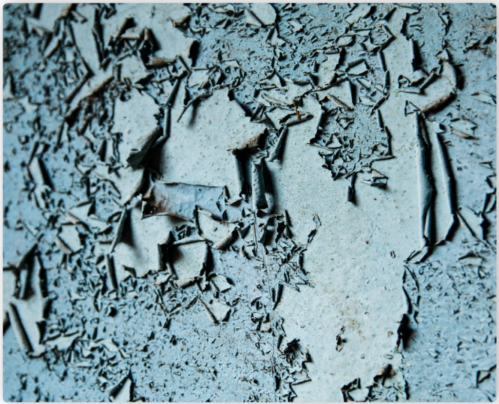 Lead-contaminated dust is created when lead-based paint in older homes chips, flakes and peels